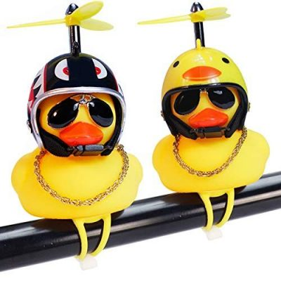 Wonuu rubber duck bicycle bell is great for adult scooter accessories.