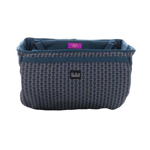 A Basket Bag Made with Liberty Fabric Jonathan