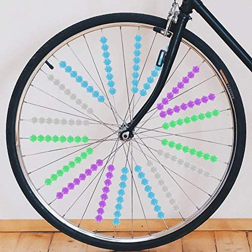 Upstore colorful plastic bike wheel spoke beads.(One of 8 fun and affordable cycling accessories)