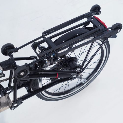 You can carry your essentials on a Brompton folding bike.