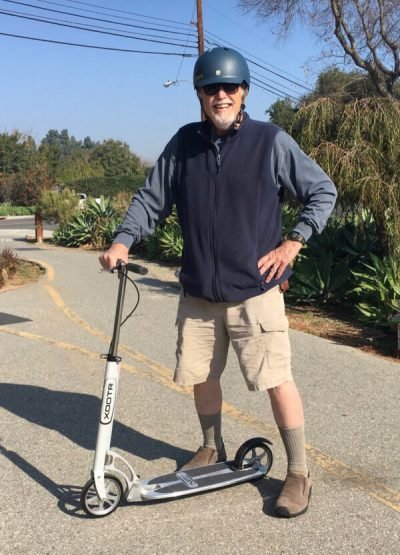 A Xootr with the right adult scooter accessories is all that you need. Just ask Jonathan Kelley.