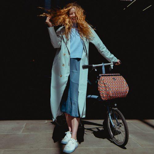 A Basket Bag Made with Liberty Fabric Metropolis